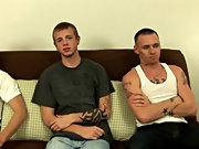 I hinted that someone should start sucking on a cock, Mike instantly leaning over and taking David's dick in his mouth while Jesse swallowed down