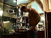 Instead, let's watch him stroke his fat pipe until it bursts his sticky load gay porn muscle