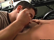 I was vexing to get his attention so that I could get him to let me finish the video my first gay huge cock