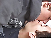 After their cocks organize been lubed up nicely, Blair takes Jesse's fat bone right up his tight  twink ass aebn com male deep throa