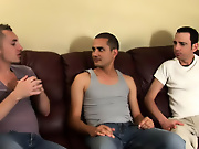 His first huge cock total gay group sex