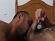 These two muscle confined hairy men harmony their foreplay nearly as much as the ass pounding and taste each others bodies fully before indulging in c