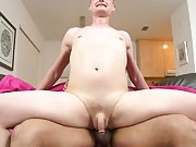 Alex Hilton is excited to see Castro Supreme's boomerang cock big and hard gays